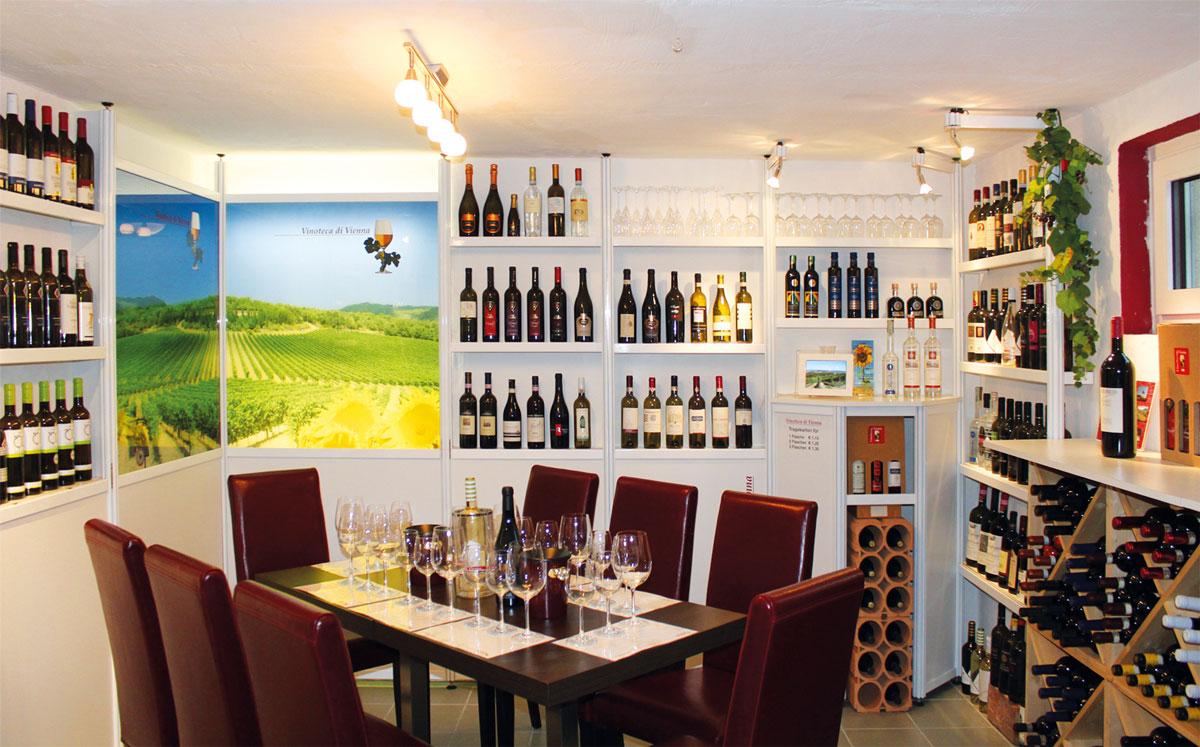 Weinverkostung in der Vinoteca di Vienna