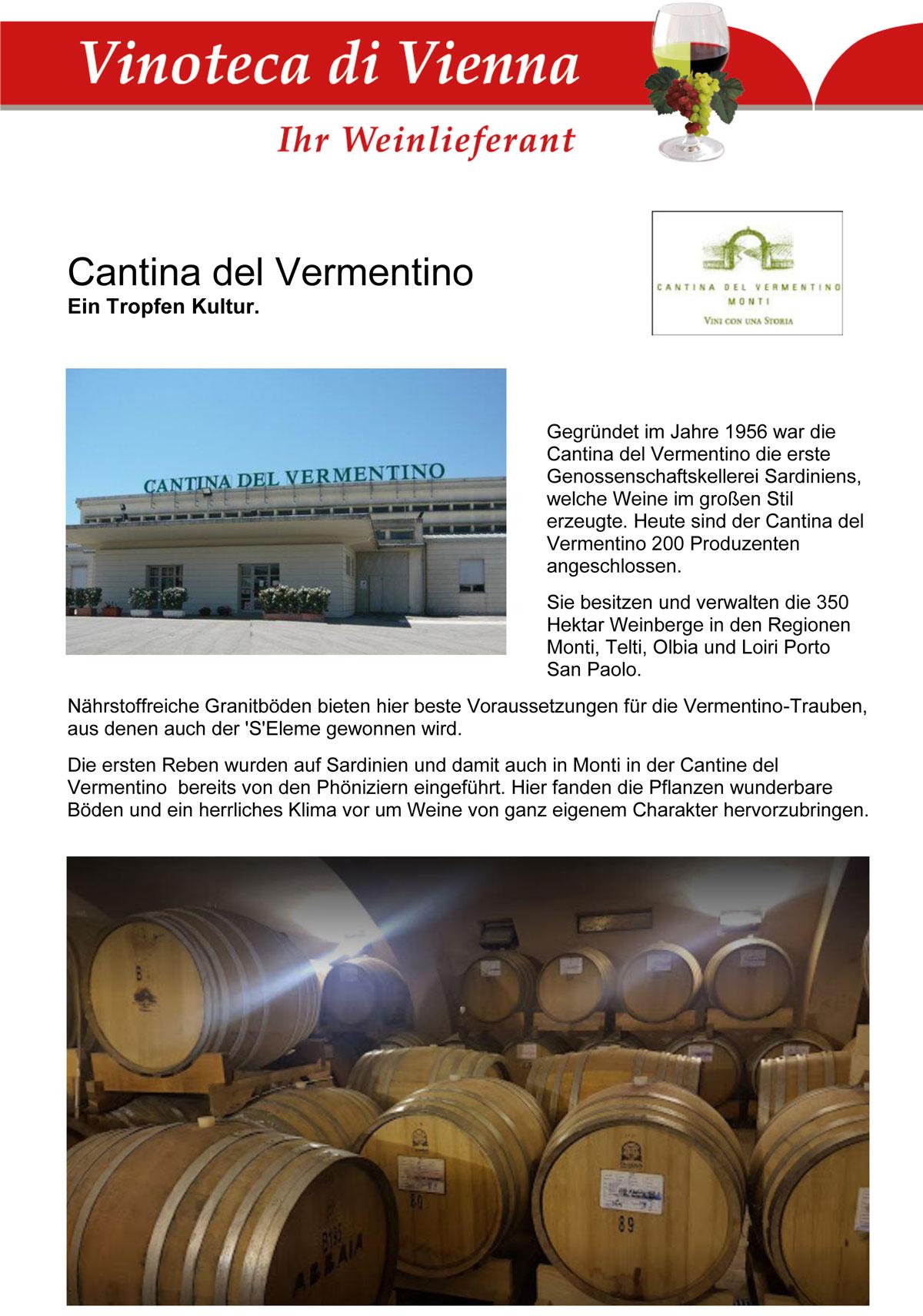 Cantina del Vermentino, Ein Tropfen Kultur. Sardinien, Italien
