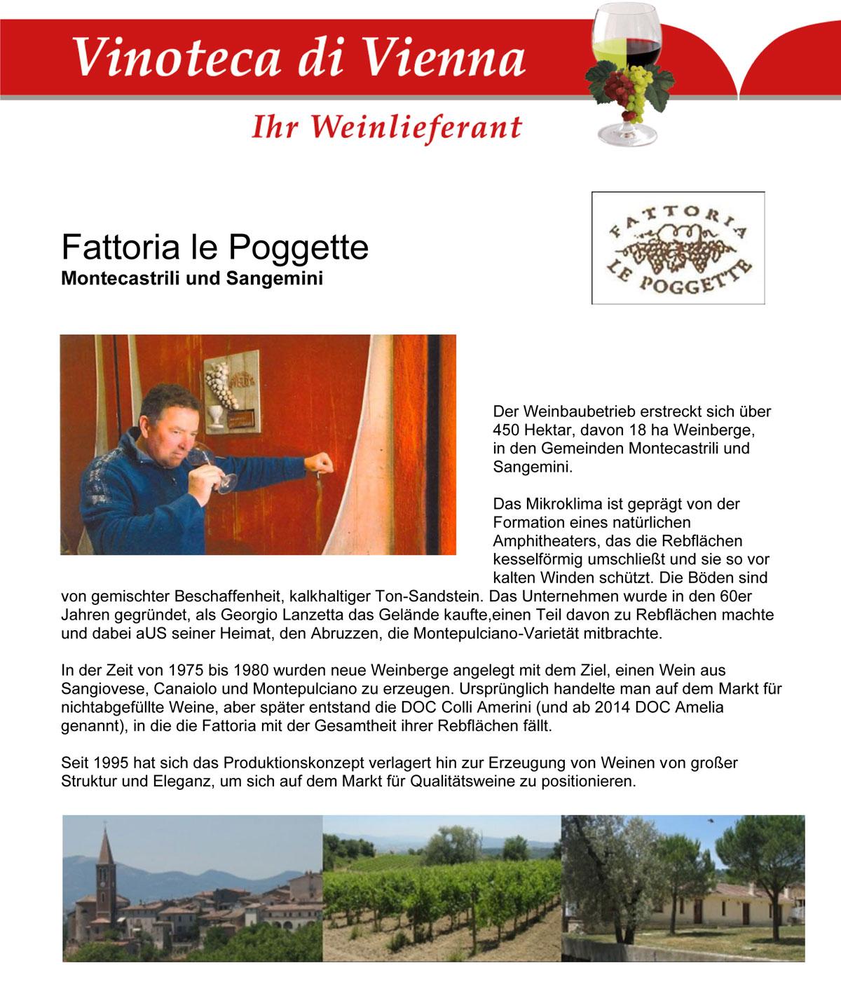 Fattoria Le Poggette, Italien, Umbrien, Montecastrilli