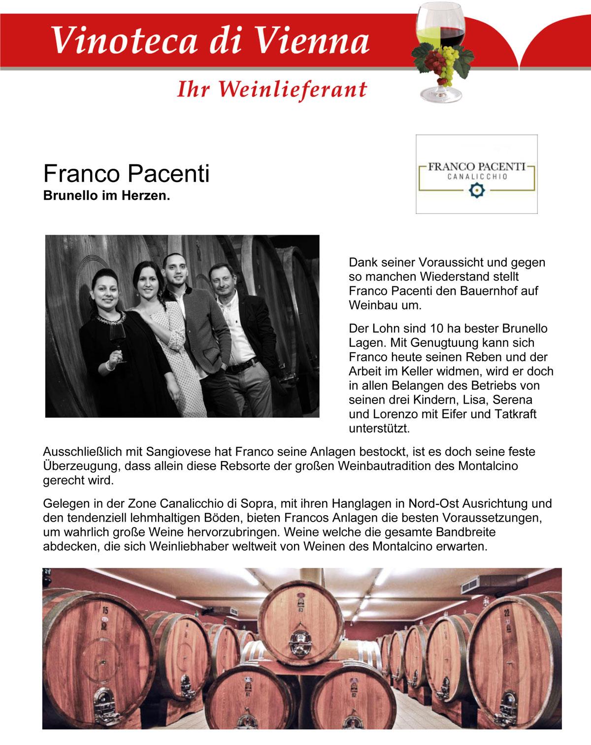 Franco Pacenti, Brunello im Herzen.