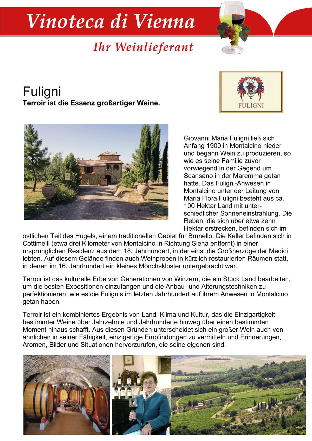 Fuligni, Terroir ist die Essenz großartiger Weine. Toskana, Montalcino, Italien