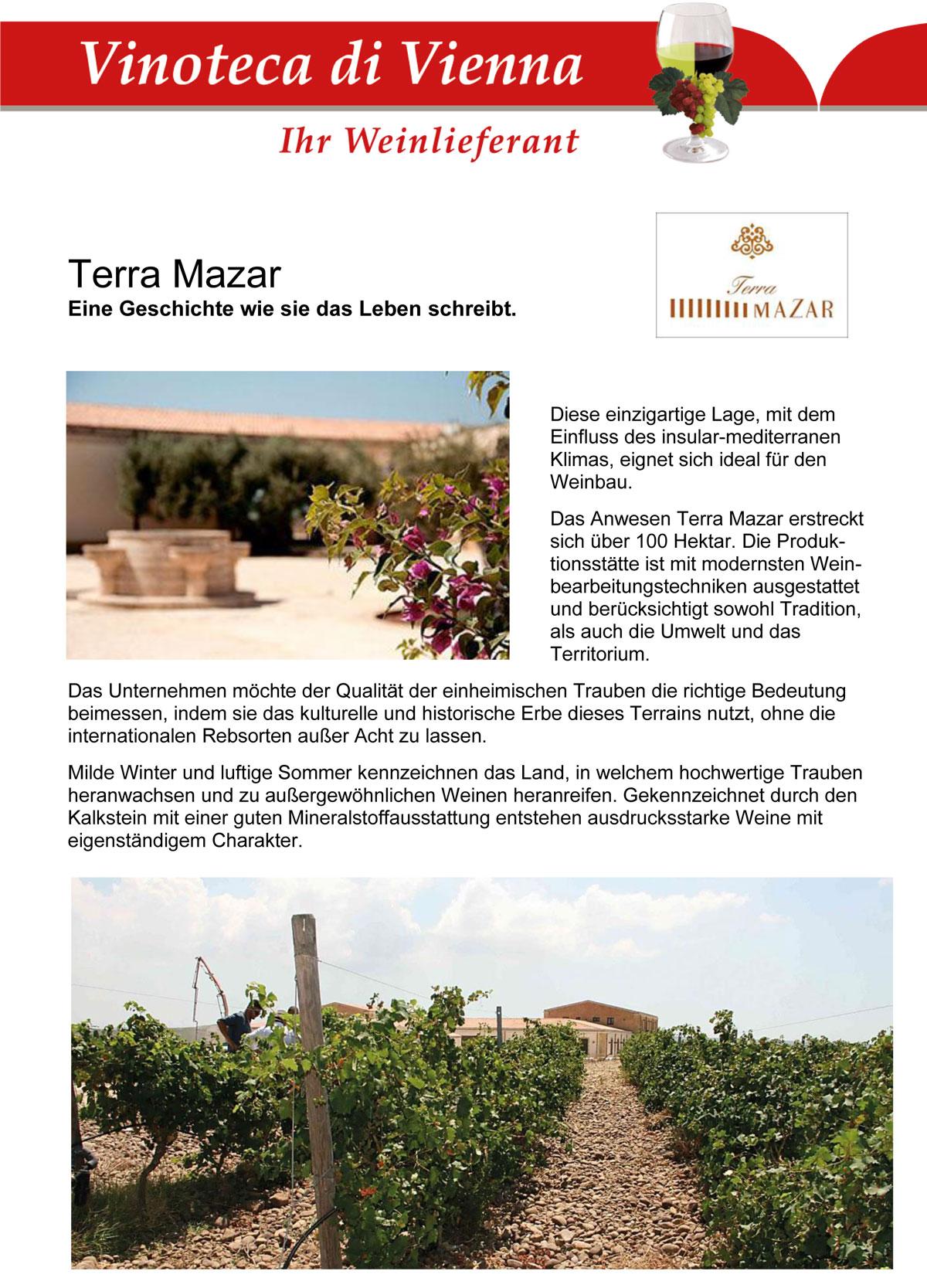Terra Mazar, Eine Geschichte wie sie das Leben schreibt. Italien, Sizilien, Mazara del Vallo