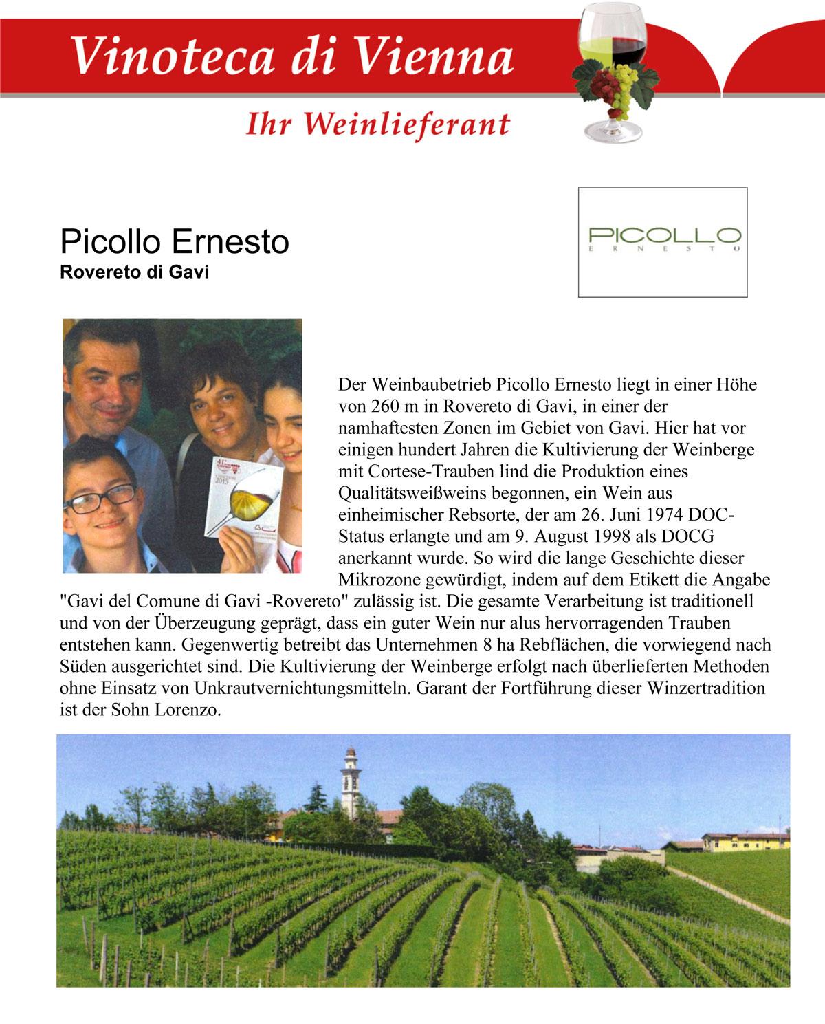 Picollo Ernesto Weingut, Rovereto di Gavi